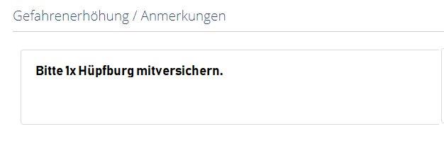 Anmerkung Hüpfburg Versicherung