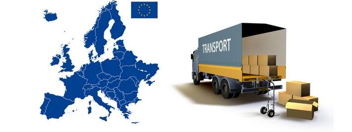 Transportvorgang innerhalb Europa